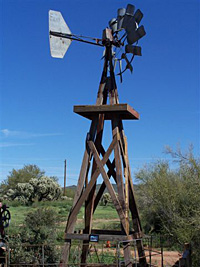 Windmill at Entrance to Apacheland Barn