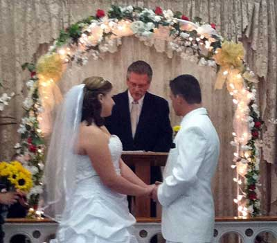 Wedding Vows at Elvis Chapel