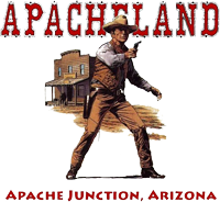 Apacheland Gunfighter With Gun Drawn, Apache Junction, Arizona