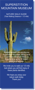 Cover of the Superstition Mountain Museum Nature Walk Guide