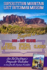 Superstition Mountain Museum 2016-2017 Season Event Schedule Booklet (cover)