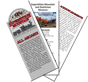 Superstition Mountain Museum Railroad - Trifold Brochure Graphic