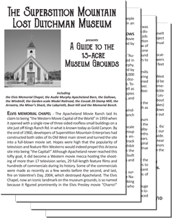 Tourguide to the Superstition Mountain - Lost Dutchman Museum Grounds