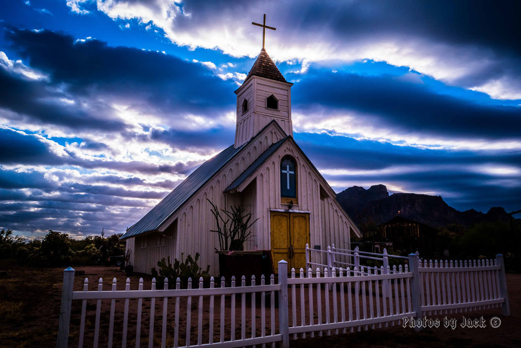 Elvis Memorial Chapel at sunrise - (Photo by Jack Olson)