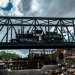 Colorado & Southern Steam Locomotive Crossing Bridge