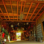 Interior of the Apacheland Barn (decorated for the annual Christmas in the Barn event, 2016)