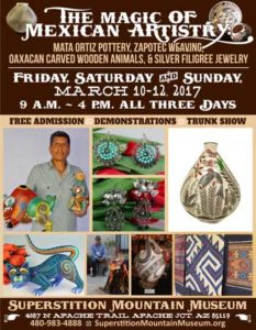 Magic of Mexican Artistry Event Flyer - March 11 & 12, 2017 (.pdf, 370kb)