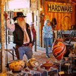 Chuck McKim, volunteer in the barn at the Magic of Mexican Artistry Event - 2017