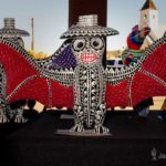 Oaxaca Wood Carving - Bat in Day of the Dead Theme