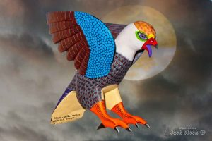 Magic of Mexican Artistry 2017 - Oaxaca Wood Carving of Eagle (Photography by Jack Olson)