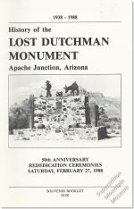 History of the Lost Dutchman Monument