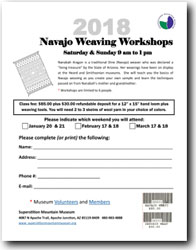 2018 Navajo Weaving Workshop Class Registration Form (.pdf, 440kb)