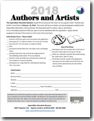 2018 Authors And Artists   Vendor Application Form (.pdf, 414kb)