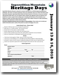 2018 Heritage Days - Vendor Application Form (.pdf, 625kb)