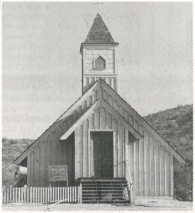 Chapel at Apacheland Prior to Steeple Getting Blown Off