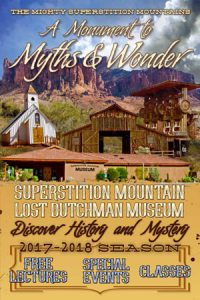 Superstition Mountain Museum 2017-2018 Season Event Schedule Booklet (cover)