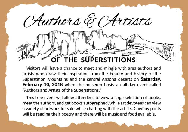 Authors & Artists of the Superstitions event, Saturday February 10, 2018