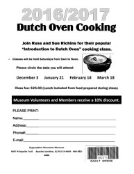 2017 Class Application - Dutch Oven Cooking (.pdf, 387kb)