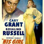 "Cary Grant, Rosalind Russell in Howard Hawks' ""His Girl Friday"""