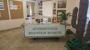 Museum Promotional Display at the Apache Junction Chamber of Commerce - June 2018