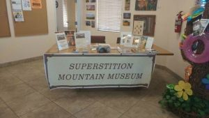 Museum Promotional Display at the Apache Junction Chamber of Commerce - July 2018