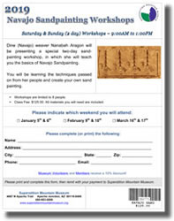 2019 Navajo Sandpainting Workshop Class Application Form (.pdf, 416kb)