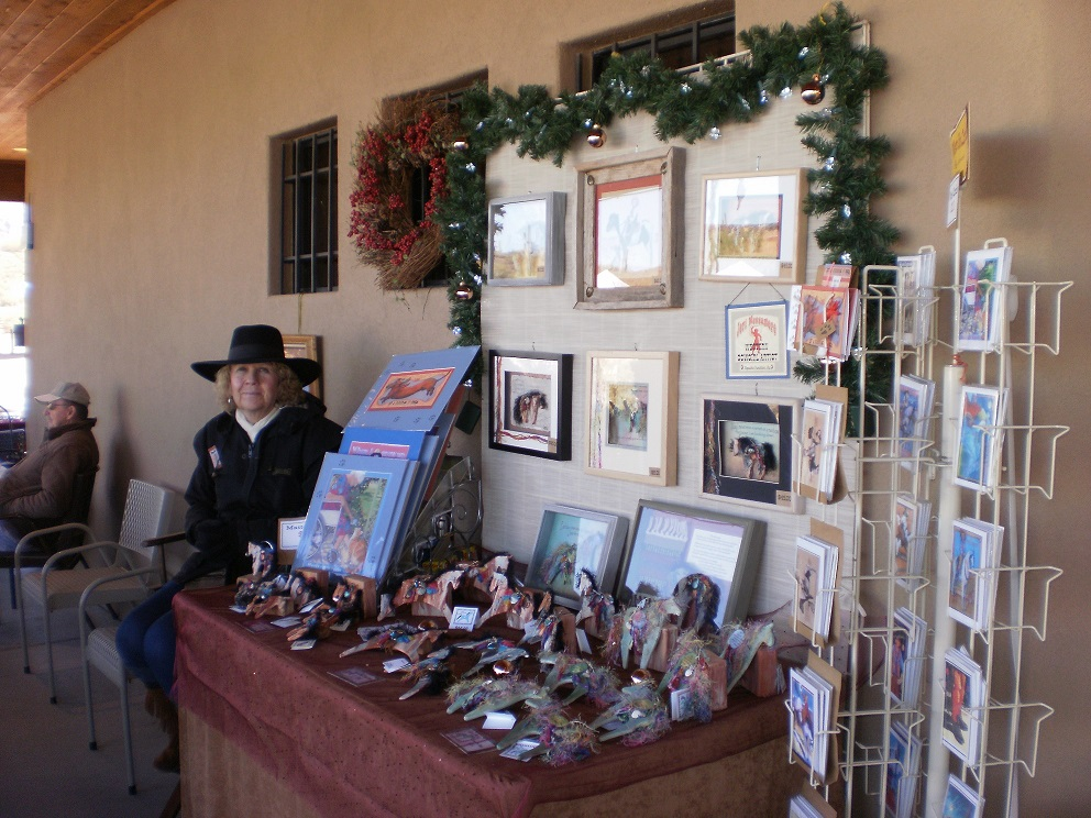 Artist at the Christmas in the Barn Holiday Boutique