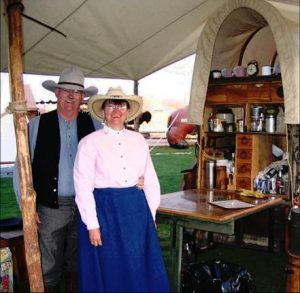 Us with chuckwagon old