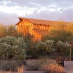 Sunset on the Apacheland Barn at the Superstition Mountain - Lost Dutchman Museum