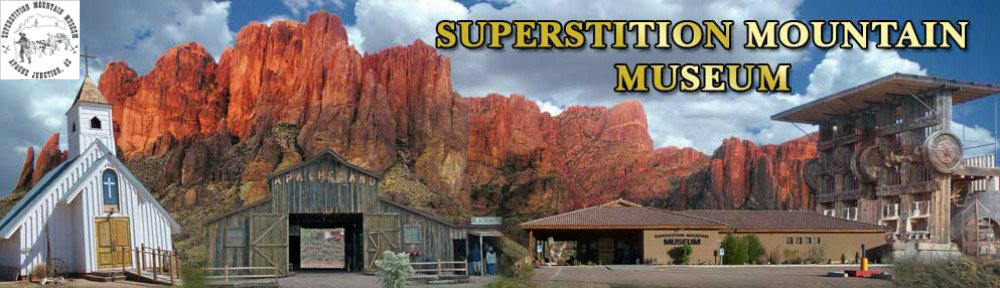 Superstition Mountain Museum Collage Banner and Logo