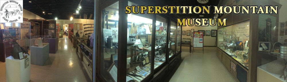 Supersition Mountain Museum Display Banner and Logo