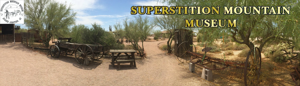 Superstition Mountain Museum Grounds Banner and Logo