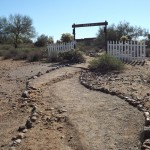 The walking path to Boot Hill