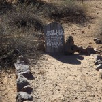 One of many headstones in Boot Hill. This one says: Here Lies Cowboy Bob. Got Drunk and lost his job. Went to steal and to rob, he was hung by a mob.