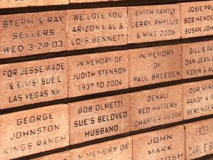 Personalized Bricks outside of the Elvis Memorial Chapel.