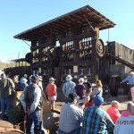 Visitors preparing for the demonstration of the 20-stamp Mill on the museum grounds.