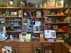 Inside Charlie's General Store, Movie Memorabilia, Cookbooks, and more