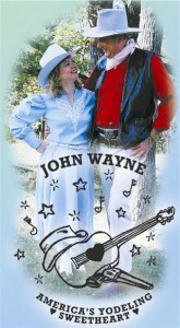 John Wayne impersonator Ermal Williamson & wife Paula, the Champion Yodeler