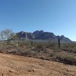 Nature Walk at Superstition Mountain - Lost Dutchman Museum - View of Superstition Mountain and the Desert, from the Trail.