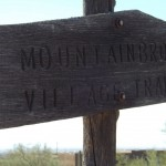 Nature Walk at Superstition Mountain - Lost Dutchman Museum - MountainBrook Village Trail, Wooden Sign along the Walking Trail.
