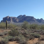 Nature Walk at Superstition Mountain - Lost Dutchman Museum - Superstition Mountain (from the path)