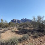 Nature Walk at Superstition Mountain - Lost Dutchman Museum - View of Superstition Mountain from the Trail.