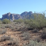 Nature Walk at Superstition Mountain - Lost Dutchman Museum - Nice views of Superstition Mountain