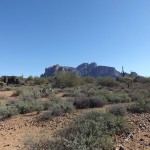 Nature Walk at Superstition Mountain - Lost Dutchman Museum - View from along the Walking Trail