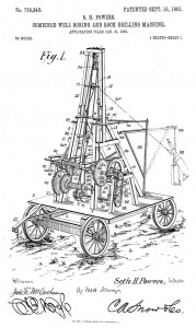 S.H. Powers Combined Well Boring and Rock Drilling Machine. Patent application filed Jan. 31, 1903.