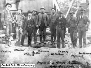 Cochiti Gold Mine Company - posing outside the Bland NM site