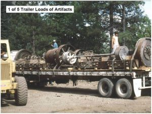 1 of 5 Flatbed Trailers of Mill Artifacts