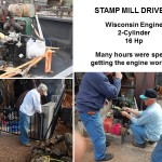 20-stamp Mill will be run by a Wisconsin 2-Cylinder, 16hp Engine