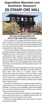 20-stamp Mill brochure (cover) by Superstition Mountain Museum